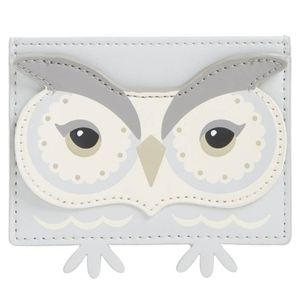 kate spade starbright owl leather card holder